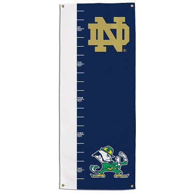 NCAA Officially licensed products Notre Dame  Growth Chart Banner This officially licensed growth chart is made of 100% poly
