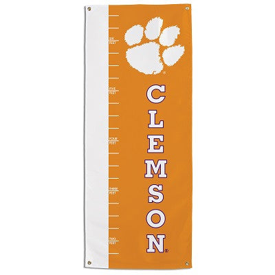 NCAA Officially licensed products Clemson Tigers Growth Chart Banner This officially licensed growth chart is made of 100% p