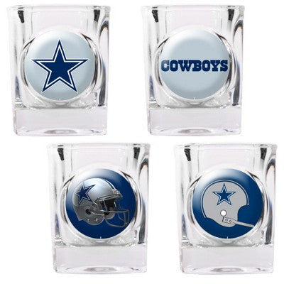 NFL Officially licensed products Dallas Cowboys 4pc Collector's Shot Glass Set