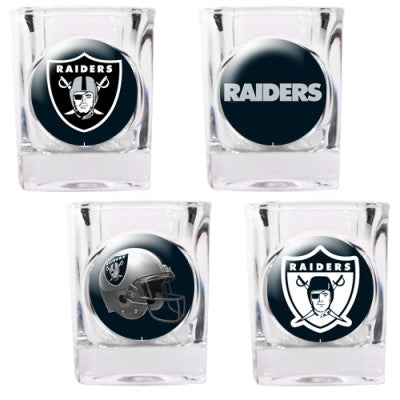 NFL Officially licensed products Oakland Raiders 4pc Collector's Shot Glass Set