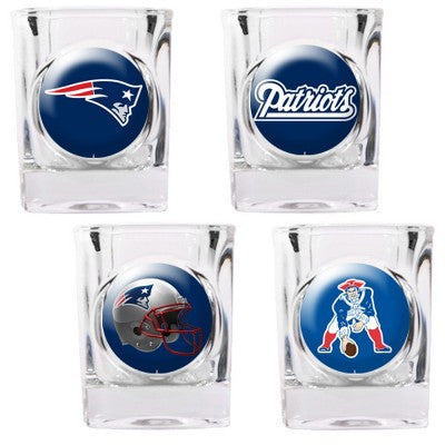 NFL Officially licensed products New England Patriots 4pc Collector's Shot Glass Set