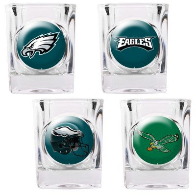 NFL Officially licensed products Philadelphia Eagles 4pc Collector's Shot Glass Set