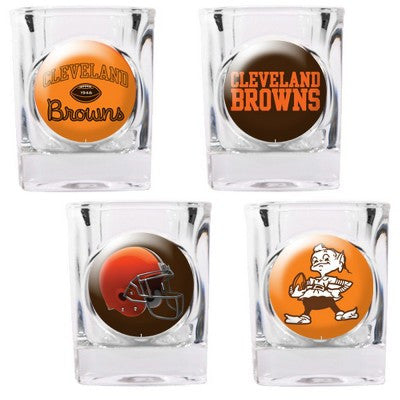 NFL Officially licensed products Cleveland Browns 4pc Collector's Shot Glass Set