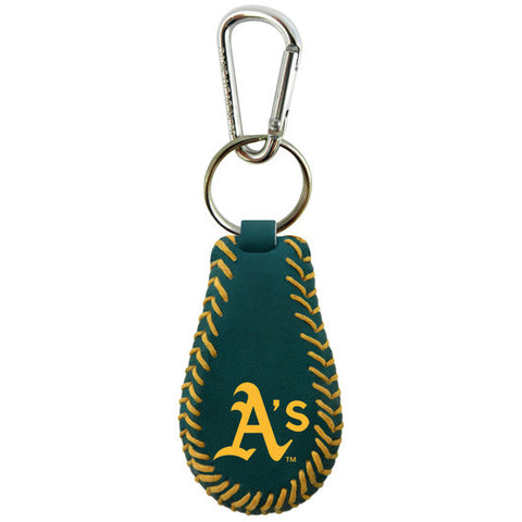 Oakland A's Team Color Baseball Keychain
