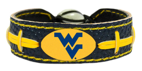 West Virginia Mountaineers Bracelet - Team Color Football