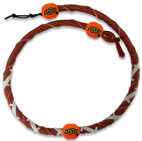 Oklahoma State Cowboys Classic Spiral Football Necklace