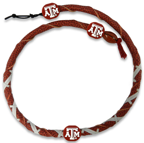 Texas A&M Aggies Classic Spiral Football Necklace