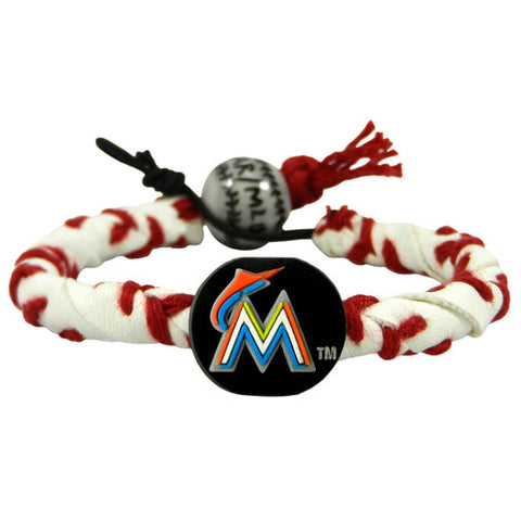 Miami Marlins Classic Frozen Rope Baseball Bracelet