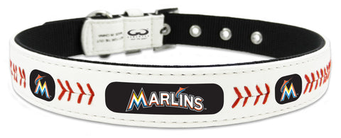 Miami Marlins Classic Leather Small Baseball Collar