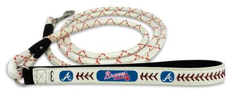 Atlanta Braves Baseball Leather Leash - M