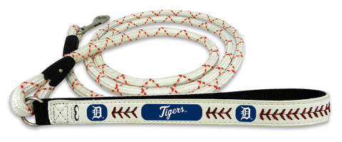 Detroit Tigers Baseball Leather Leash - M