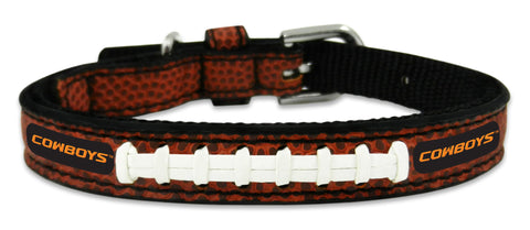 Oklahoma State Cowboys Classic Leather Toy Football Collar