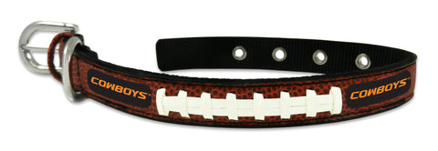 Oklahoma State Cowboys Classic Leather Small Football Collar