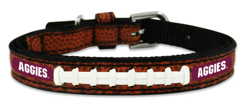 Texas A&M Aggies Classic Leather Toy Football Collar