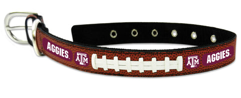 Texas A&M Aggies Classic Leather Medium Football Collar
