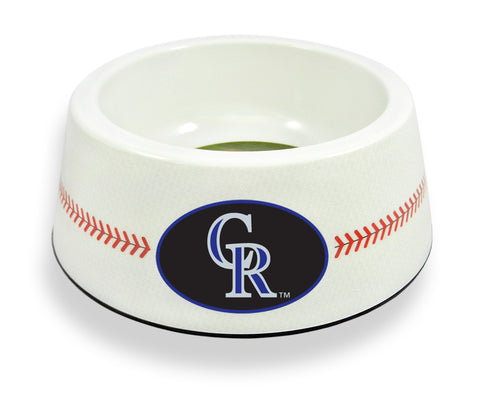 Colorado Rockies Classic Baseball Pet Bowl