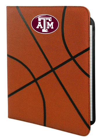 Texas A&M Aggies Classic Basketball Portfolio - 8.5 in x 11 in