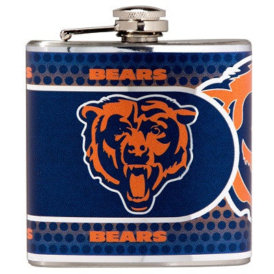 NFL Officially licensed products Chicago Bears Stainless Steel 6 oz. Flask with Metallic Graphics This officially licensed 6