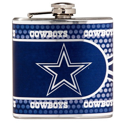 NFL Officially licensed products Dallas Cowboys Stainless Steel 6 oz. Flask with Metallic Graphics This officially licensed