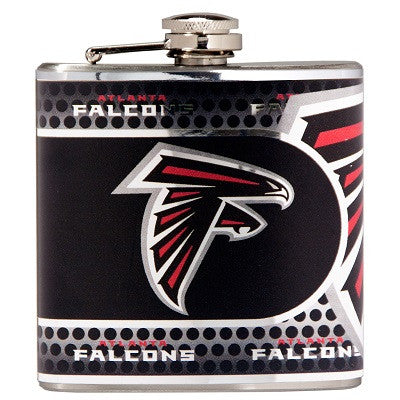 NFL Officially licensed products Atlanta Falcons Stainless Steel 6 oz. Flask with Metallic Graphics This officially licensed