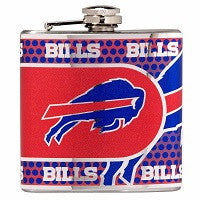 NFL Officially licensed products Buffalo Bills Stainless Steel 6 oz. Flask with Metallic Graphics This officially licensed 6