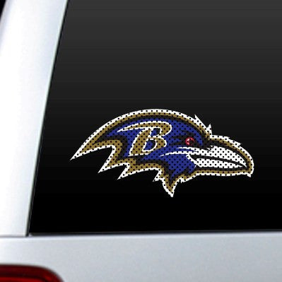 NFL Officially licensed products Baltimore Ravens Diecut Window Film  Show your team spirit proudly with this die cut window