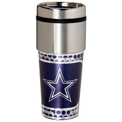 NFL Officially licensed products Dallas Cowboys 16  oz. Stainless Steel Travel Tumbler Metallic Graphics Enjoy your favorite