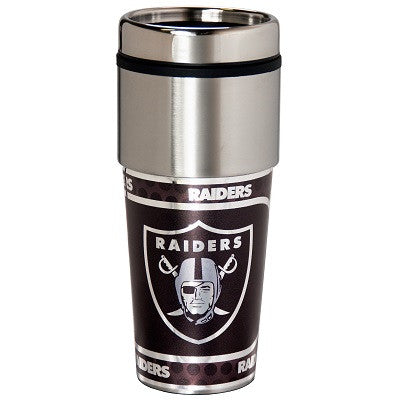 NFL Officially licensed products Oakland Raiders 16  oz. Stainless Steel Travel Tumbler Metallic Graphics Enjoy your favorit