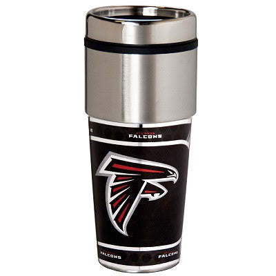 NFL Officially licensed products Atlanta Falcons 16  oz. Stainless Steel Travel Tumbler Metallic Graphics Enjoy your favorit