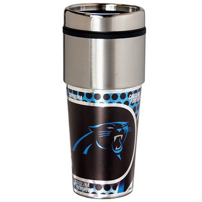 NFL Officially licensed products Carolina Panthers 16  oz. Stainless Steel Travel Tumbler Metallic Graphics Enjoy your favor
