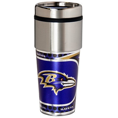 NFL Officially licensed products Baltimore Ravens 16  oz. Stainless Steel Travel Tumbler Metallic Graphics Enjoy your favori