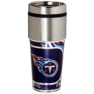 NFL Officially licensed products Tennessee Titans 16  oz. Stainless Steel Travel Tumbler Metallic Graphics Enjoy your favori