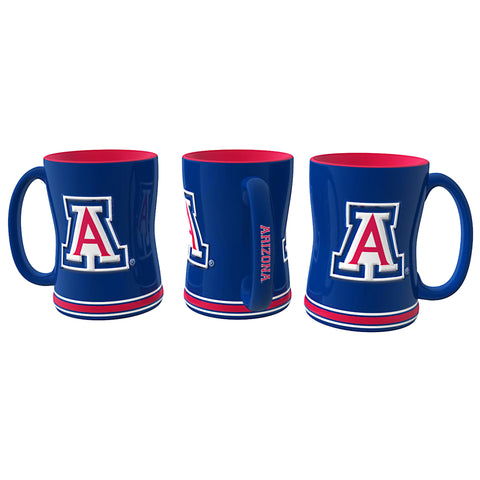 Arizona Wildcats Coffee Mug - 14oz Sculpted Relief