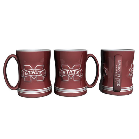 Mississippi State Bulldogs Coffee Mug - 14oz Sculpted Relief