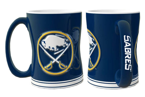 Buffalo Sabres Coffee Mug - 14oz Sculpted Relief