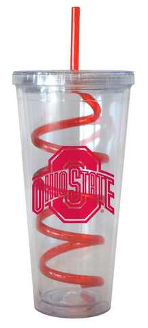 Ohio State Buckeyes 22 oz Tumbler with Swirl Straw