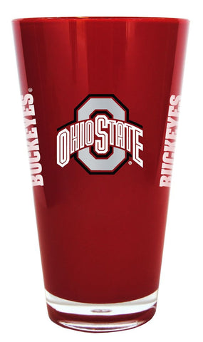 Ohio State Buckeyes 20 oz Insulated Plastic Pint Glass - Blemished