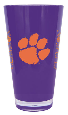 Clemson Tigers 20 oz Insulated Plastic Pint Glass