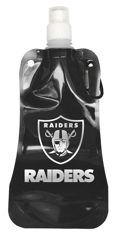 Oakland Raiders 16 ounce Foldable Water Bottle