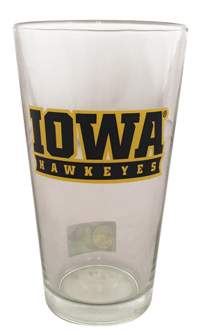 Iowa Hawkeyes 16 oz Pint Glass - Wordmark