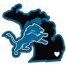 NFL Officially licensed products Detroit Lions Home State Decal Show your support for your team and your home state with his