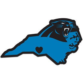 NFL Officially licensed products Carolina Panthers Home State Decal Show your support for your team and your home state with