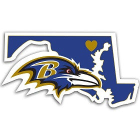 NFL Officially licensed products Baltimore Ravens Home State Decal Show your support for your team and your home state with