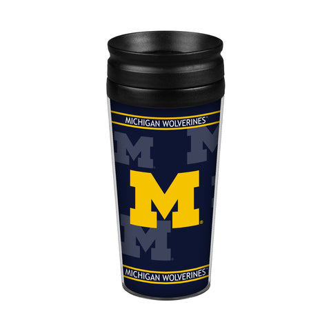 Michigan Wolverines 14oz. Full Wrap Travel Mug