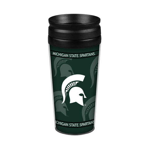 Michigan State Spartans 14oz. Full Wrap Travel Mug