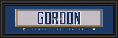 "Kansas City Royals Alex Gordon Print - Signature 8""x24"""