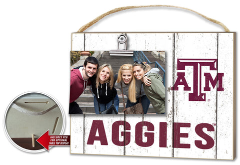 Texas A&M Aggies Clip It Weathered Logo Photo Frame