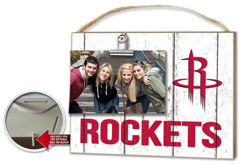 Houston Rockets Clip It Weathered Logo Photo Frame
