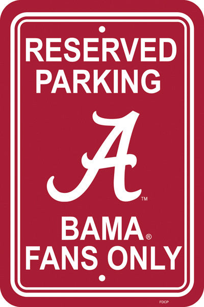 "NCAA Officially licensed products Alabama Crimson Tide 12"" X 18"" Plastic Parking Sign Show your team spirit proudly with thi"