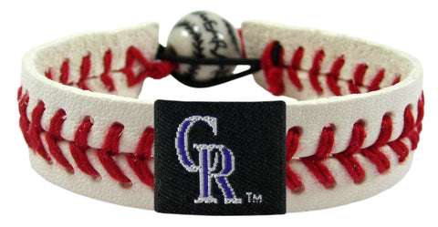 Colorado Rockies Classic Baseball Bracelet